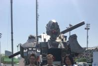 자이언트 파이터 로봇들의 대결