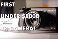 샤프의 8K 마이크로포서즈 카메라